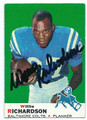 WILLIE RICHARDSON BALTIMORE COLTS AUTOGRAPHED VINTAGE FOOTBALL CARD #110116E