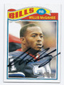 WILLIS McGAHEE BUFFALO BILLS AUTOGRAPHED FOOTBALL CARD #110216C