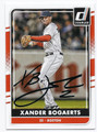 XANDER BOGAERTS BOSTON RED SOX AUTOGRAPHED BASEBALL CARD #110216E
