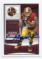 ALFRED MORRIS WASHINGTON REDSKINS AUTOGRAPHED FOOTBALL CARD #110316A