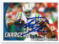 ANTONIO GATES SAN DIEGO CHARGERS AUTOGRAPHED FOOTBALL CARD #110516E