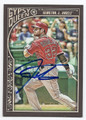 JOSH HAMILTON LOS ANGELES ANGELS OF ANAHEIM AUTOGRAPHED BASEBALL CARD #111416A