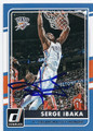 SERGE IBAKA OAKLAHOMA CITY THUNDER AUTOGRAPHED BASKETBALL CARD #111416B