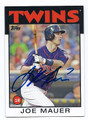 JOE MAUER MINNESOTA TWINS AUTOGRAPHED BASEBALL CARD #111416C