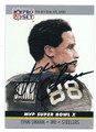 LYNN SWANN PITTSBURGH STEELERS AUTOGRAPHED FOOTBALL CARD #111516C