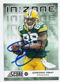 JERMICHAEL FINLEY GREEN BAY PACKERS AUTOGRAPHED FOOTBALL CARD #111516F