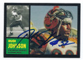 RUDI JOHNSON CINCINNATI BENGALS AUTOGRAPHED FOOTBALL CARD #112716C