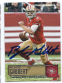 BLAINE GABBERT SAN FRANCISCO 49ers AUTOGRAPHED FOOTBALL CARD #113016A