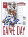 EZEKIEL ELLIOTT OHIO STATE BUCKEYES AUTOGRAPHED ROOKIE FOOTBALL CARD #120116H