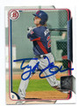 TYLER NAQUIN CLEVELAND INDIANS AUTOGRAPHED ROOKIE BASEBALL CARD #120216B