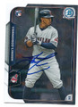 FRANCISCO LINDOR CLEVELAND INDIANS AUTOGRAPHED ROOKIE BASEBALL CARD #120316A