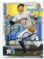 CARLOS CORREA HOUSTON ASTROS AUTOGRAPHED BASEBALL CARD #120316C