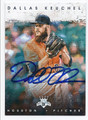 DALLAS KEUCHEL HOUSTON ASTROS AUTOGRAPHED BASEBALL CARD #120316G