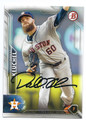 DALLAS KEUCHEL HOUSTON ASTROS AUTOGRAPHED BASEBALL CARD #120416B