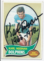 KARL NOONAN MIAMI DOLPHINS AUTOGRAPHED VINTAGE FOOTBALL CARD #120416E