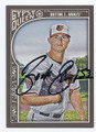 ZACH BRITTON BALTIMORE ORIOLES AUTOGRAPHED BASEBALL CARD #120616H