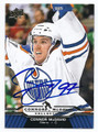 CONNOR McDAVID EDMONTON OILERS AUTOGRAPHED ROOKIE HOCKEY CARD #120816A