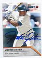 JUSTIN UPTON DETROIT TIGERS AUTOGRAPHED BASEBALL CARD #121016B