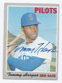 TOMMY HARPER SEATTLE PILOTS AUTOGRAPHED VINTAGE BASEBALL CARD #121316E