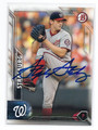 STEPHEN STRASBURG WAHINGTON NATIONALS AUTOGRAPHED BASEBALL CARD #121716C