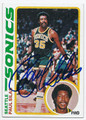 PAUL SILAS SEATTLE SUPERSONICS AUTOGRAPHED VINTAGE BASKETBALL CARD #121716D