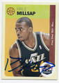 PAUL MILLSAP UTAH JAZZ AUTOGRAPHED BASKETBALL CARD #121916F
