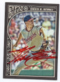 MAX SCHERZER WASHINGTON NATIONALS AUTOGRAPHED BASEBALL CARD #122016A