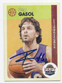 PAU GASOL LOS ANGELES LAKERS AUTOGRAPHED BASKETBALL CARD  #122016C