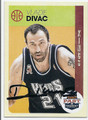 VLADE DIVAC SACAMENTO KINGS AUTOGRAPHED BASKETBALL CARD #122116A
