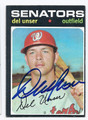DEL UNSER WASHINGTON SENATORS AUTOGRAPHED VINTAGE BASEBALL CARD #122116D