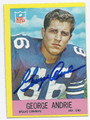 DAVE ANDRIE DALLAS COWBOYS AUTOGRAPHED VINTAGE FOOTBALL CARD #122716B