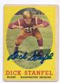 DICK STANFEL WASHINGTON REDSKINS AUTOGRAPHED VINTAGE FOOTBALL CARD #122716D