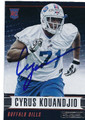 CYRUS KOUANDJIO BUFFALO BILLS AUTOGRAPHED ROOKIE FOOTBALL CARD #122816B