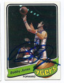 BOBBY JONES PHILADELPHIA 76ers AUTOGRAPHED VINTAGE BASKETBALL CARD #122816E