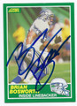 BRIAN BOSWORTH SEATTLE SEAHAWKS AUTOGRAPHED VINTAGE FOOTBALL CARD #122816F