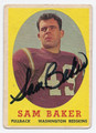 SAM BAKER AUTOGRAPHED VINTAGE WASHINGTON REDSKINS FOOTBALL CARD #122916C