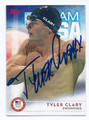 TYLER CLARY AUTOGRAPHED OLYMPIC SWIMMING CARD #10217A