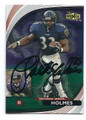 PRIEST HOLMES BALTIMORE RAVENS AUTOGRAPHED FOOTBALL CARD #10317A