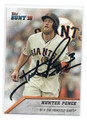 HUNTER PENCE SAN FRANCISCO GIANTS AUTOGRAPHED BASEBALL CARD #10517B