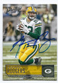 RICHARD RODGERS GREEN BAY PACKERS AUTOGRAPHED FOOTBALL CARD #10517C