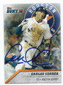 CARLOS CORREA HOUSTON ASTROS AUTOGRAPHED BASEBALL CARD #10517D