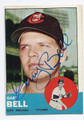 GARY BELL CLEVELAND INDIANS AUTOGRAPHED VINTAGE BASEBALL CARD #10917C