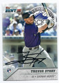 TREVOR STORY COLORADO ROCKIES AUTOGRAPHED ROOKIE BASEBALL CARD #10917D