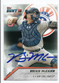 BRIAN McCANN NEW YORK YANKEES AUTOGRAPHED BASEBALL CARD #10917F