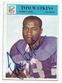 TOM WATKINS DETROIT LIONS AUTOGRAPHED VINTAGE FOOTBALL CARD #11117A