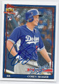 COREY SEAGER LOS ANGELES DODGERS AUTOGRAPHED ROOKIE BASEBALL CARD #11117C