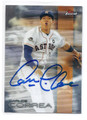 CARLOS CORREA HOUSTON ASTROS AUTOGRAPHED BASEBALL CARD #11217C