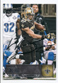 WILLIE SNEAD NEW ORLEANS SAINTS AUTOGRAPHED FOOTBALL CARD #11217D