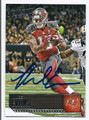 MIKE EVANS TAMPA BAY BUCCANEERS AUTOGRAPHED FOOTBALL CARD #11217F