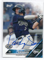 DANSBY SWANSON HILLSBORO HOPS AUTOGRAPHED ROOKIE BASEBALL CARD #11617A